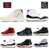 Mens 11s Platinum Tint Concord 45 basketball shoes Space Jam Bred Gym Red Win Like 96 XI Designer Sneakers mens shoes US5.5-13