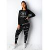 Women Designer Fashion Tracksuits Luxury Clothing Set Long Sleeve Tops + Pants Two Piece Set Womens Causal Print Tracksuits