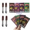 DABWOODS Carts 1ml Ceramic Coil Vape Cartridges Packaging Wood Drip Tip Thick Oil Dab Pen Wax Vaporizer 510 Thread Empty Cartridge