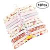 10pcs Flower Cloth Non-slip Wood Hangers Pastoral Cloth Hanger Non-Slip Clothes Hangers Drying Rack for Clothes Mixed Color
