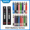 Authentic Evod UGO V 650mAh 900mAh Ego 510 Battery 8colors Micro USB Charge Passthrough E-cig O Pen Vape Batterry Vs Vision Spinner Law
