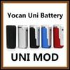 100% Original yocan uni box mod 650 mAh Magnetic 510 thread adapter Yocan UNI MOD BATTERY Specially for thick oil free DHL