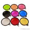 Travel Collapsible Pet Dog Cat Feeding Bowl Water Dish Feeder Silicone Foldable 9 Colors To Choose