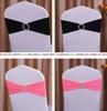 Wedding Chair Cover Sashes Elastic Spandex Chair Band Bow With Buckle for Weddings Event Party Accessories 200pcs