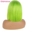 "Brazilian Remy Hair Lace Front Human Hair Wigs Wigs For Women 8"" to 14"" Neon Green Wig 150% density"