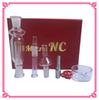 Nectar Collector Kit 10mm with Curved Glass Bowl micro NC Titanium Nail Glass pipe 1pcs plastic clip In Stock DHL free delivery