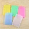 Wholesale-out-size 9.5x5.5 in-size 5.4x8.6 Transparent hard plastic sleeve holder employee's card holder Z5166