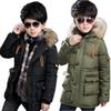 Boys Parkas Cotton Padded Warm Kids Boy Winter Jacket Winter Boys Fur Hooded Children Warm Coat Outerwear