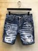 Men's shorts designer jeans black shorts denim men's casual denim tight motorcycle high quality jeans shorts
