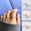 Fashion 925 Sterling Silver Thin Wave Ring Gold Ocean Wave Ring Simple Dainty Summelrr Beach Sea Surfer Personality Jewey
