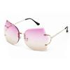 New Arrival Girl Unique Rimless Sunglasses Women Retro Ombre Lens Glasses Eyeglass Frame For Free Shipping