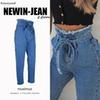High Streetwear Denim Jeans Women High Waist Winter Jeans Femme Autumn Tassel Straight Jeans Female Cowboy Denim Pants