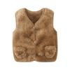 Winter Comfortable Warm Fleece Girls Boys Vest Coats Unisex Faux Fur Waistcoat with Pockets Clothes for 0-5Years Kids Vest Girls
