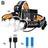 1*Headlamp+2*Batteries