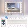 Makeup Mirror Lights Dimmable 60Leds LED Vanity Light Kits 10FT 2800LM Daylight White 6000K Waterproof DIY Module Lights With RF Controller
