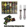 Dank Vapes Cartridge Hologram 3D Box Side Window Carts G5 Screw Holographic 0.8ml 1.0ml Ceramic Coil 510 Thick Oil Tank Vaporizers