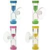 1PCS Color Random Mini 3 Minutes Sandglass Hourglass Sand Clock Timer Ampulheta For Tooth Brushing Shower Timer Suction Cup