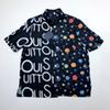 19SS Galaxy Starry Sky Splice shirt with short sleeves Men and Women Fashion Breathable Luxury shirt with short sleeves HFSSCS002