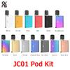 Original OVNS JC01 Starter Kits 400mAh Vape Box Mods Pods Vaporizer with 0.7ml Ceramic Coil Cartridge for Thick Oil Kit 100% Authentic