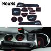 13pcs Car Cup Mat for Nissan JUKE 2010-2018 Car Accessories Gate Slot Pad Door Pad Luminous Non-Slip Interior Door Pad Cup Mat