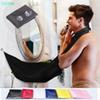 120x80cm New Fashion Man Bathroom Beard Bib High-Grade Waterproof Polyester Pongee Beard Care Trimmer Hair Shave Apron