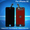 Top A+++ Quality for iPhone 5C LCD Display Digitizer Full Set Assembly Replacement with Lifetime Warranty Free Shipping