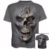Men Summer Gym Outdoor T-Shirt Quick Dry Running Fitness Tops Fashion 3D Printed T-shirt Casual Short sleeve Tshirt Skull B11