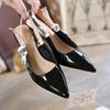 2019 Summer Women Dress Shoes Bow Knot High Heel Pumps Women Lace Sandals Ladies Shoes Elegant Wedding Shoes Q-244