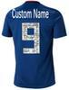 Blauer 9 benutzerdefinierter Name