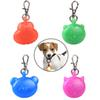 Dog Collar Led Glowing Pendant Safety Night Walking ID Light Cartoon Dog Cat Pet Accessories Flashing Keychains Pet Supplies