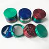 New Herb Grinder 6 Color Grinders 4 Layer 55mm Diameter Tobacco Crusher Zinc Alloy Smoke Accessories For Smoking