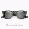 901 Siyah kare koyu yeşil lensler