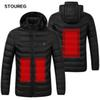 Waterproof Heated Jackets Windproof Warm Fleece Jeakets Unisex Winter Hiking Jackets For Men Women Skiing Clothes S-3XL