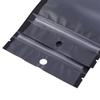 12x22cm 100pcs matte clear one side Clear one side Black white Reclosable Mylar Plastic Zip Lock Pouch Bags