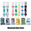 New Style MoonRock Clear Cartridge 1.0ml 0.8ml Ceramic Tank Vape Vaporizer Moon Rock OEM Carts for 510 Thread Thick Oil Atomizer