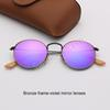 lentes de espejo marco-violeta de bronce