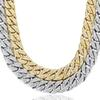 Cuban Link Designer Necklace Gold Plated Hip Hop Mens Necklace Clear Rhinestones Luxury Necklaces Silver Fashion Jewelry