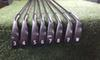 New Black 0311 iron golf forged iron golf club 3-9, W, a set of 8 R   S head cover steel rod