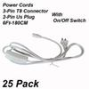 2Pin 6Ft Power Cords With Switch