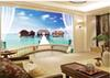 Beibehang 3D Stereo Villa Balcony Sea View Background Wall Painting Home Decor Living Room Wall Covering Wallpaper