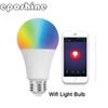Smart LED Light Bulb Smartphone App Controlled Dimmable Multicolored 9W E27 E26 WiFi Light Bulb Works with Alexa voice control