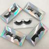 Super Long 25mm 3D 5D Mink Eyelashes Custom Packaging Private Logo Lashes Book Natural Thick Dramatic Lashes