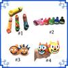4option Colorful Silicone Pipe Rick Morty Eye Smiling Cat c Shape More Styles Portable with Glass Bowl Multi Classic color DHL