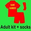 Erwachsene Kit + Socken mit Namensnummer