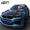 Perfect fitment LM style wide body kit for BMW X6 F16 front bumper rear bumper side skirts fender wing spoiler and hood