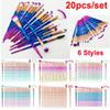 Diamond Makeup Brushes 20pcs Set Powder Brush Kits Face and Eye Brush Puff Batch Colorful Brushes Foundation brushes Beauty Cosmetics by DHL