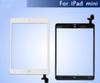 For White iPad mini Touch Screen Digitizer + IC home button+ adhesive replacement & Free DHL Shipping