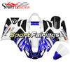 Fit For Yamaha 2000 2001 YZF1000 R1 Complete Plastic Blue White Design R1 00 01 Bike Bodywork Kit Panels Motorcycles Casing New