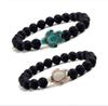 8mm Black Lava stone turquoise Bead Sea Turtle bracelet Essential Oil Diffuser Bracelet For Women men Jewelry