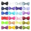 MIX COLORS Men STAIN Solid COLORS Bow Ties Butterfly Gentleman Wedding Party Adjustable Wedding PLAIN Prom boe tie